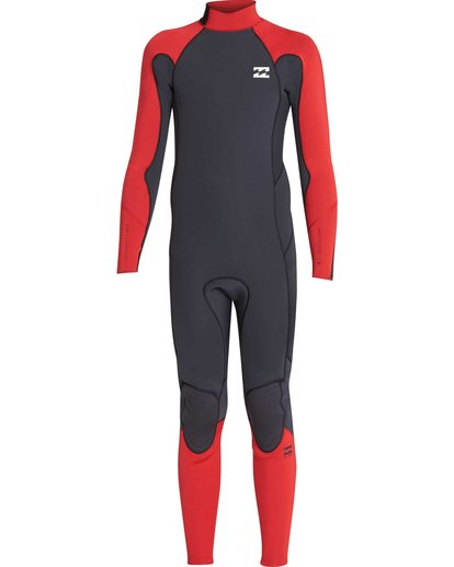 0 4/3 Boys Furnace Absolute Back Zip Gbs Wetsuit Rojo L44B06BIF8 Billabong