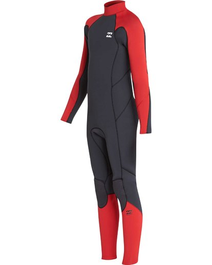 3 4/3 Boys Furnace Absolute Back Zip Gbs Wetsuit Rojo L44B06BIF8 Billabong