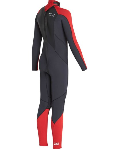 4 4/3 Boys Furnace Absolute Back Zip Gbs Wetsuit Rojo L44B06BIF8 Billabong