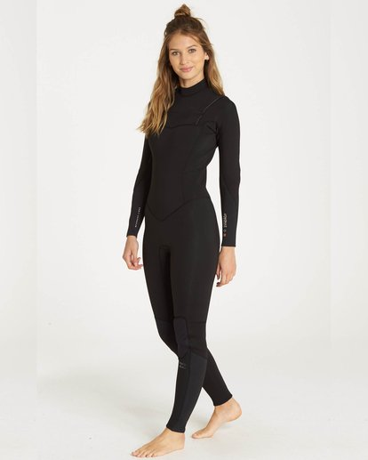 0 4/3 Furnace Synergy Chest Zip Gbs Fullsuit Wetsuit Noir L44G03BIF8 Billabong