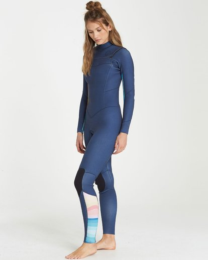 1 4/3 Salty Dayz Chest Zip Fullsuit Wetsuit Blau L44G20BIF8 Billabong