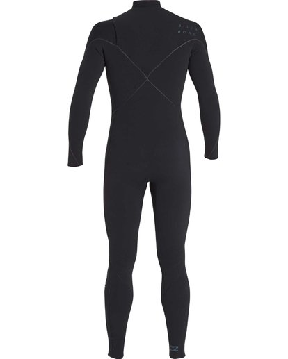 17 4/3 Furnace Carbon Chest Zip Gbs Wetsuit Noir L44M02BIF8 Billabong