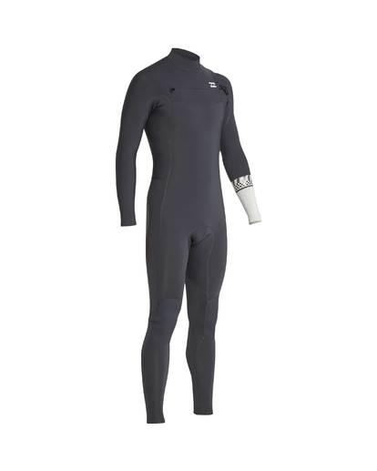 4 4/3 Furnace Revolution Chest Zip Wetsuit Gris L44M06BIF8 Billabong