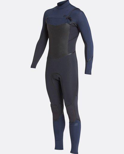 9 4/3 Furnace Absolute X Chest Zip Fullsuit Wetsuit Grau L44M07BIF8 Billabong
