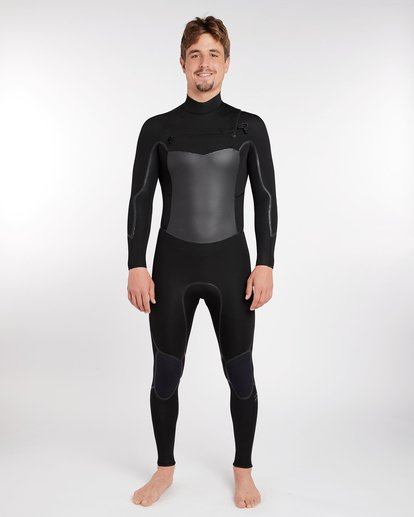 12 4/3 Furnace Absolute X Chest Zip Fullsuit Wetsuit Noir L44M07BIF8 Billabong