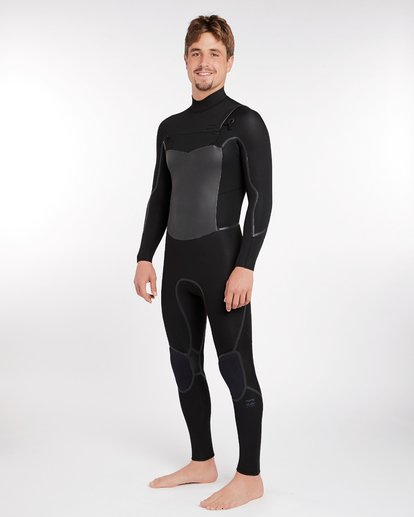 13 4/3 Furnace Absolute X Chest Zip Fullsuit Wetsuit Noir L44M07BIF8 Billabong