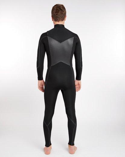 15 4/3 Furnace Absolute X Chest Zip Fullsuit Wetsuit Noir L44M07BIF8 Billabong