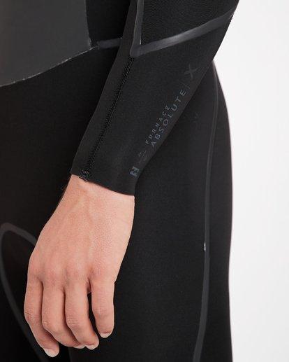 17 4/3 Furnace Absolute X Chest Zip Fullsuit Wetsuit Noir L44M07BIF8 Billabong