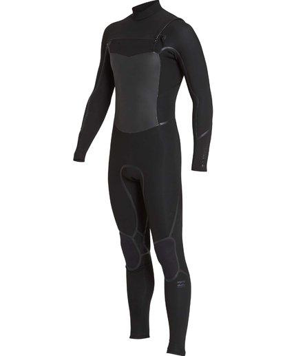 22 4/3 Furnace Absolute X Chest Zip Fullsuit Wetsuit Noir L44M07BIF8 Billabong
