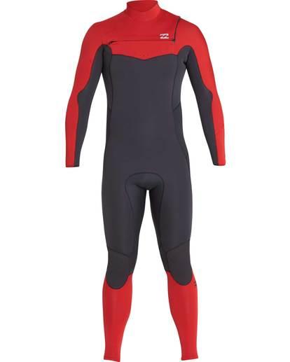 9 4/3 Furnace Absolute Chest Zip Gbs Fullsuit Wetsuit Rot L44M09BIF8 Billabong