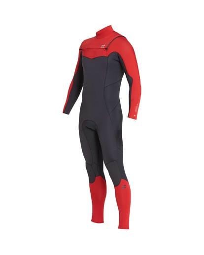 10 4/3 Furnace Absolute Chest Zip Gbs Fullsuit Wetsuit Rot L44M09BIF8 Billabong