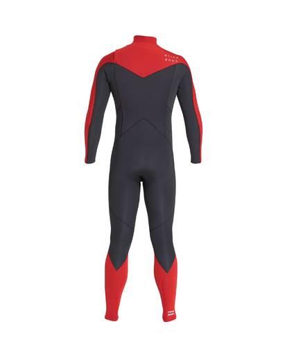11 4/3 Furnace Absolute Chest Zip Gbs Fullsuit Wetsuit Rot L44M09BIF8 Billabong