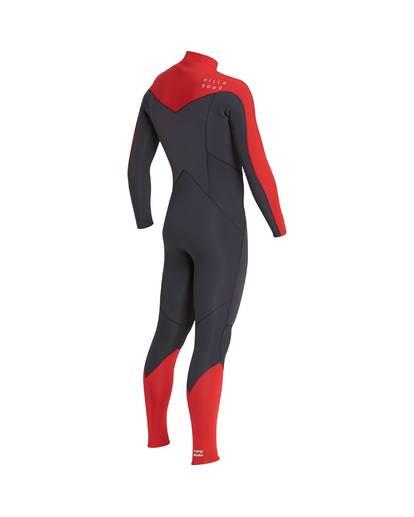 12 4/3 Furnace Absolute Chest Zip Gbs Fullsuit Wetsuit Rot L44M09BIF8 Billabong