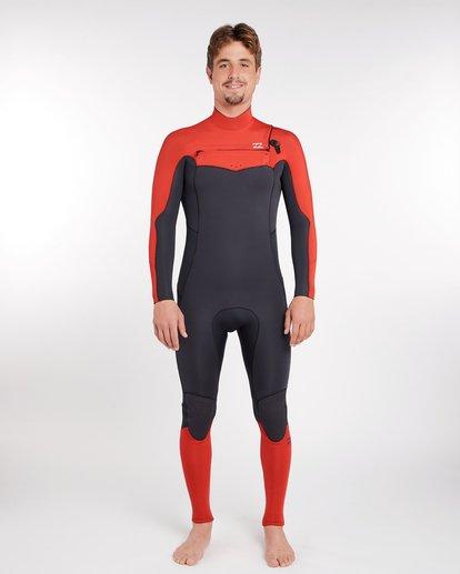 0 4/3 Furnace Absolute Chest Zip Gbs Fullsuit Wetsuit Rot L44M09BIF8 Billabong