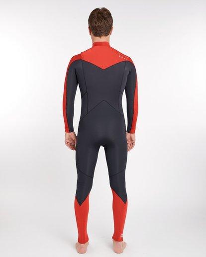 3 4/3 Furnace Absolute Chest Zip Gbs Fullsuit Wetsuit Rot L44M09BIF8 Billabong