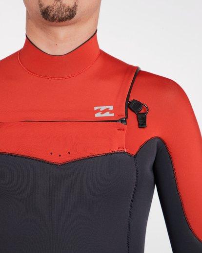 4 4/3 Furnace Absolute Chest Zip Gbs Fullsuit Wetsuit Rot L44M09BIF8 Billabong