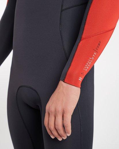5 4/3 Furnace Absolute Chest Zip Gbs Fullsuit Wetsuit Rot L44M09BIF8 Billabong