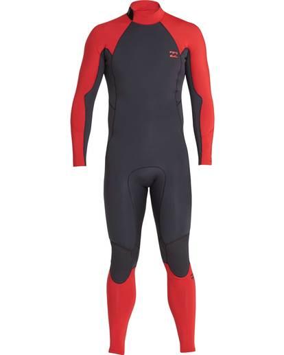 0 4/3 Furnace Absolute Back Zip Gbs Fullsuit Wetsuit Rot L44M10BIF8 Billabong