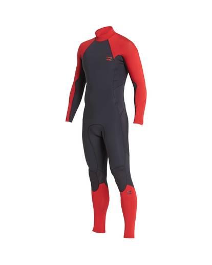 1 4/3 Furnace Absolute Back Zip Gbs Fullsuit Wetsuit Rot L44M10BIF8 Billabong