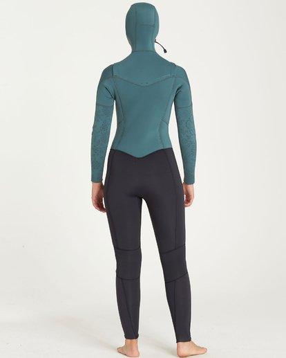 1 5/4 Furnace Synergy Chest Zip Hooded Gbs Wetsuit Beige L45G30BIF8 Billabong