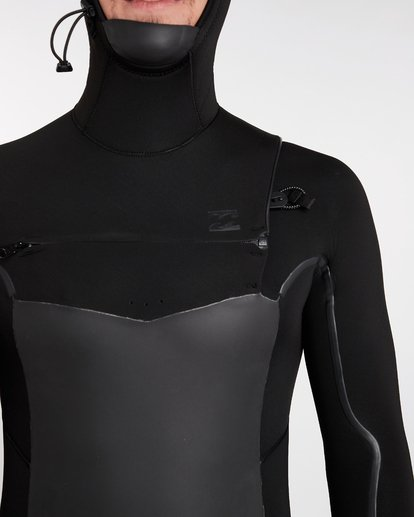 4 5/4 Furnace Absolute X Chest Zip Hooded Wetsuit Schwarz L45M08BIF8 Billabong