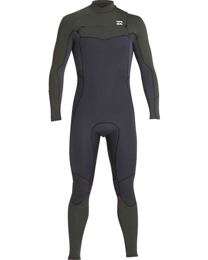 0 5/4 Furnace Absolute Chest Zip Gbs Fullsuit Wetsuit Grün L45M09BIF8 Billabong