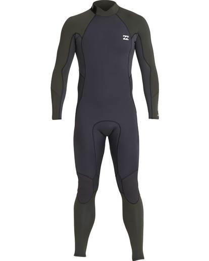 0 5/4 Furnace Absolute Back Zip Gbs Fullsuit Wetsuit Verde L45M10BIF8 Billabong