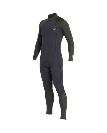 1 5/4 Furnace Absolute Back Zip Gbs Fullsuit Wetsuit Verde L45M10BIF8 Billabong