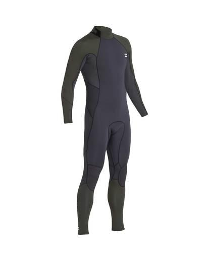 4 5/4 Furnace Absolute Back Zip Gbs Fullsuit Wetsuit Verde L45M10BIF8 Billabong