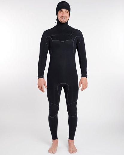 10 5/4 Furnace Carbon Ultra Hooded Fullsuit Wetsuit Noir L45M20BIF8 Billabong