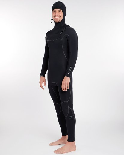 11 5/4 Furnace Carbon Ultra Hooded Fullsuit Wetsuit Noir L45M20BIF8 Billabong