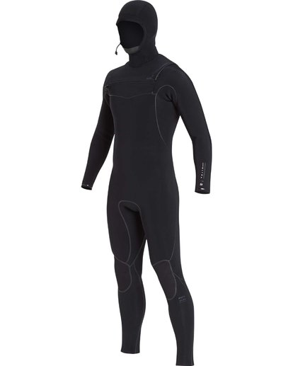 7 6/5 Furnace Carbon Ultra Hooded Fullsuit Wetsuit Noir L46M01BIF8 Billabong