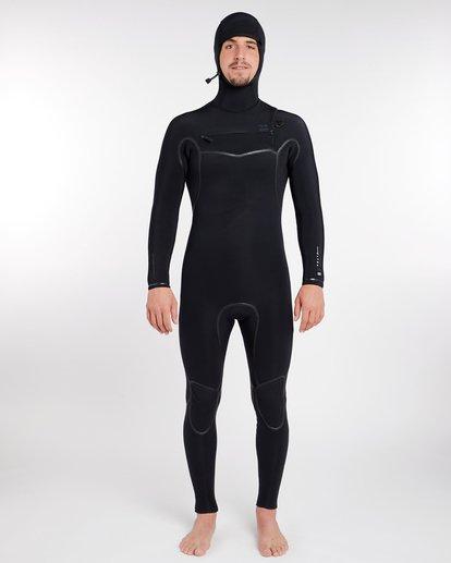 10 6/5 Furnace Carbon Ultra Hooded Fullsuit Wetsuit Noir L46M01BIF8 Billabong