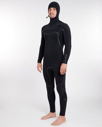 11 6/5 Furnace Carbon Ultra Hooded Fullsuit Wetsuit Noir L46M01BIF8 Billabong
