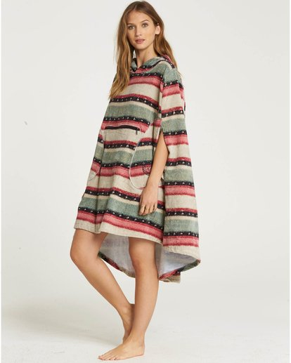 0 Hooded Poncho Towel Beige L4BR10BIF8 Billabong