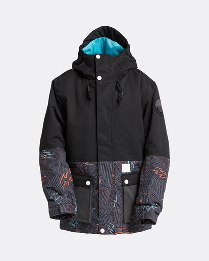 0 Boys Fifty 50 Snow Jacket Schwarz L6JB02BIF8 Billabong