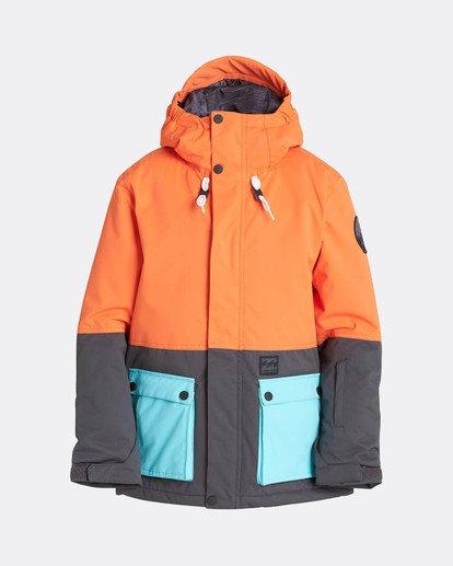 0 Boys Fifty 50 Snow Jacket Orange L6JB02BIF8 Billabong