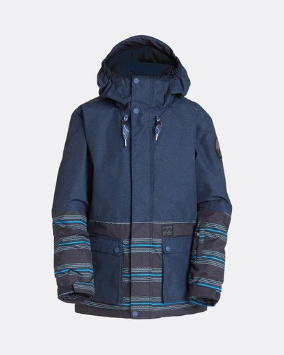 0 Boys Fifty 50 Snow Jacket Blue L6JB02BIF8 Billabong