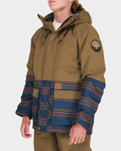 1 Teen Fifty 50 Snow Jacket Yellow L6JB02S Billabong