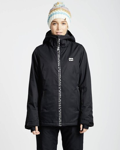 3 Sula Solid Snow Jacket Schwarz L6JF01BIF8 Billabong