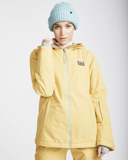 0 Sula Solid Snow Jacket Beige L6JF01BIF8 Billabong