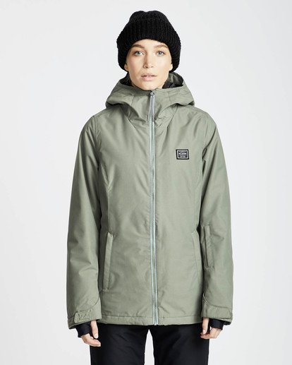 3 Sula Solid Snow Jacket Vert L6JF01BIF8 Billabong