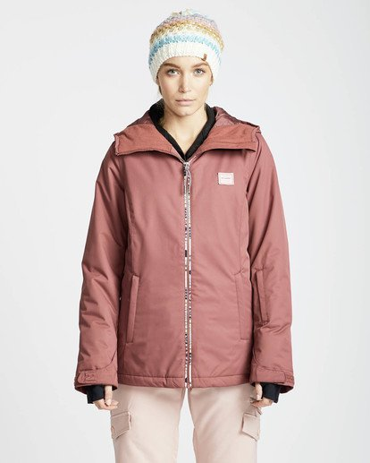 3 Sula Solid Snow Jacket Rot L6JF01BIF8 Billabong