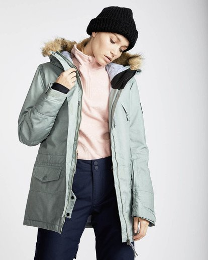 3 Nora 10K Primaloft Snow Jacket Grün L6JF05BIF8 Billabong