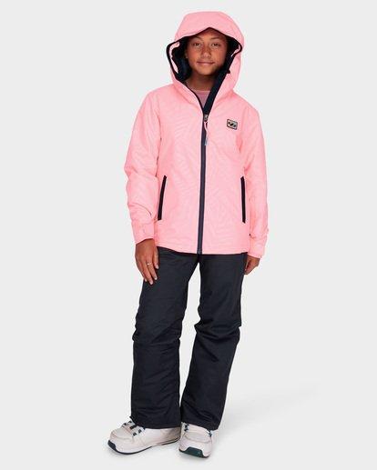 3 TEEN GIRLS SULA JACKET Pink L6JG02S Billabong