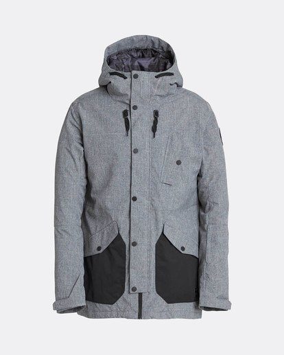 7 Adversary 10K Primaloft Snow Jacket Grey L6JM05BIF8 Billabong