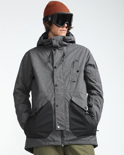 4 Adversary 10K Primaloft Snow Jacket Grey L6JM05BIF8 Billabong