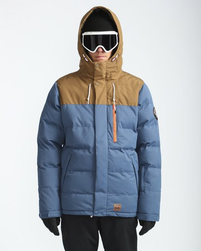 0 Glacier Puffer 10K Snow Jacket Blue L6JM07BIF8 Billabong