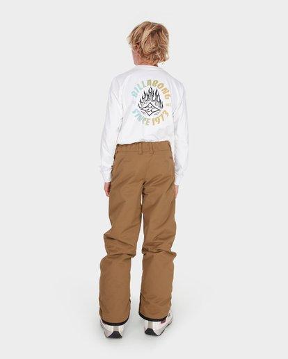 2 Teen Snow Pant Yellow L6PB01S Billabong