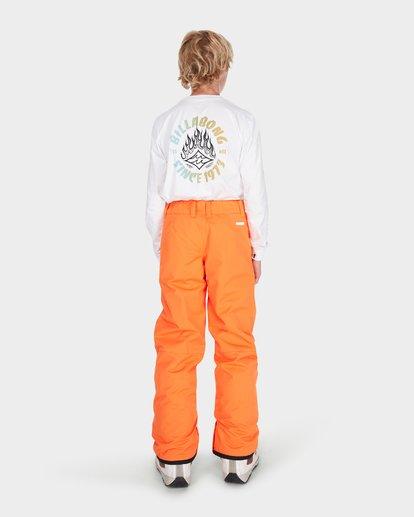 2 TEEN SNOW PANT Orange L6PB01S Billabong